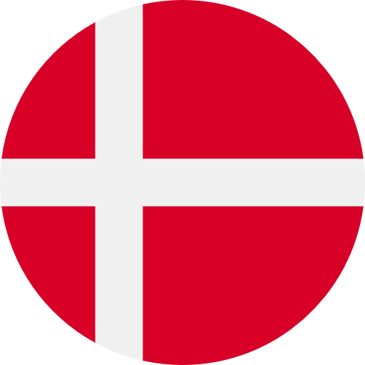 round flag representing a blackcurrant country association in the IBA : Denmark