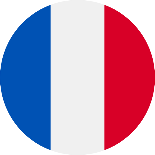 round flag representing a blackcurrant country association in the IBA : France