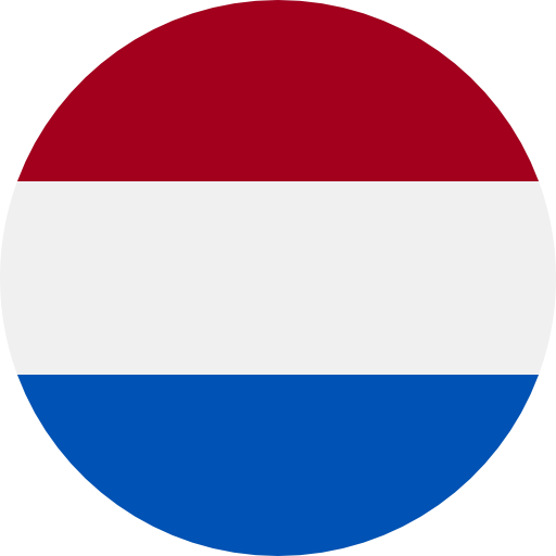 round flag representing a blackcurrant country association in the IBA : Netherlands