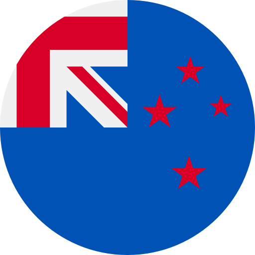 round flag representing a blackcurrant country association in the IBA : New Zealand