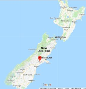 map of New Zealand showing where the Tavendale farm is situated