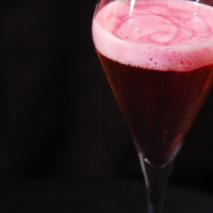 CREMANT WITH BLACKCURRANT FOAM