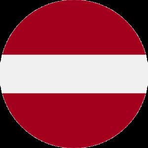 latvian flag round