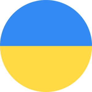 round flag representing a blackcurrant country association in the IBA : Ukraine