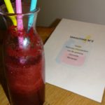 glass of winter blackcurrant smoothie