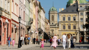 Street view of Lviv, place of the IBA conference 2020