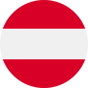 Austrian flag round shape